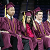 Chelmsford High graduation. Class officers, from left, president Pat Slattery, vice presidents Brian Tong and Diti Patel, treasurer Thomas Snelson, and secretary Brendan Malone. (SUN/Julia Malakie)