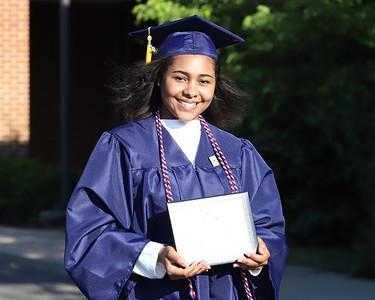 Yasmine Loussaief Mars 2020 graduation. Seb Foltz/Butler Eagle 06/12/20
