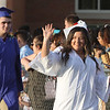 Dracut High graduation. Kailyn Kerrigan, right, and Corey Kosowicz, left. (SUN/Julia Malakie)