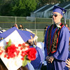 Kyle McCullough, who is joining the Marines, is recognized at Dracut High graduation. (SUN/Julia Malakie)