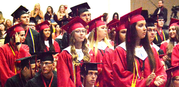 Will Fehlinger | The Herald-Tribune<br /> East Central High School honor graduates are recognized on graduation day 2018.