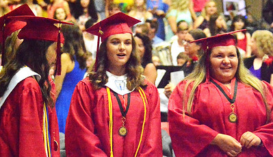Will Fehlinger | The Herald-Tribune It's a happy day for these young ladies as they prepare to graduate from East Central High School on June 3.