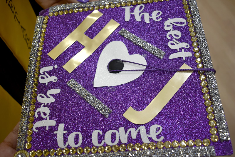 -Messenger photo by Chad Thompson<br /> <br /> Niko Padilla's graduation cap is shown here. Padilla, 17, was one of 49 Eagle Grove High School graduates to receive their diplomas Sunday afternoon at Robert Blue Middle School.