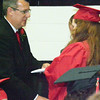 Will Fehlinger | The Herald-Tribune<br /> Superintendent Dr. Andrew Jackson conferred diplomas to 316 East Central High School seniors on June 4.