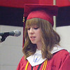 Will Fehlinger | The Herald-Tribune<br /> Hannah Childers, president of East Central's Class of 2017, reminds her classmates 'to live out their stories.'