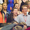 "Will Fehlinger | The Herald-Tribune<br /> Members of the East Central High School chorus belt out ""Don't Blink"" at the June 4 commencement. It was the class song for the Class of 2017."