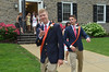 Germantown Academy High School graduates proceed to the field house for commencement ceremony.   Friday, June 13, 2013.  Photo by Geoff Patton