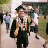 Record-Eagle/Keith King<br /> Vam Yang walks with family members at the conclusion of the Traverse City Central High School commencement.