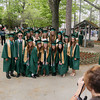 Record-Eagle/Keith King<br /> A group of students has their picture taken prior to the start of the Traverse City West Senior High School commencement at the Interlochen Center for the Arts.