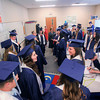 Record-Eagle/Keith King<br /> Grand Traverse Academy graduating seniors prepare prior to the start of the commencement exercises at the Grand Traverse Academy.