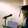 Record-Eagle/Jan-Michael Stump<br /> Grand Traverse Academy salutatorian Dana McCarthy (cq) gives her speech during Friday's commencement exercises.