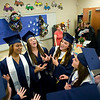 Record-Eagle/Jan-Michael Stump<br /> Grand Traverse Academy students sing before the start of commencement exercises Friday night.