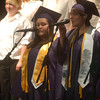 """Record-Eagle/Sarah Brower<br /> The Secondary Choir sang """"The Call,"""" where three seniors sang with them for the last time."""