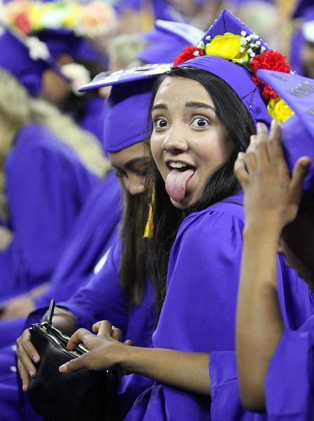 Greater Lowell Tech graduation. Health Assisting/Pre-Nursing graduate Katiashka Perez of Lowell. (SUN/Julia Malakie)