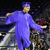 Greater Lowell Tech graduation. Automotive Technology graduate Ibrahim Abbas of Lowell dances his way across the stage. (SUN/Julia Malakie)