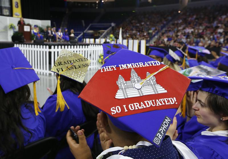 Greater Lowell Tech graduation. (SUN/Julia Malakie)