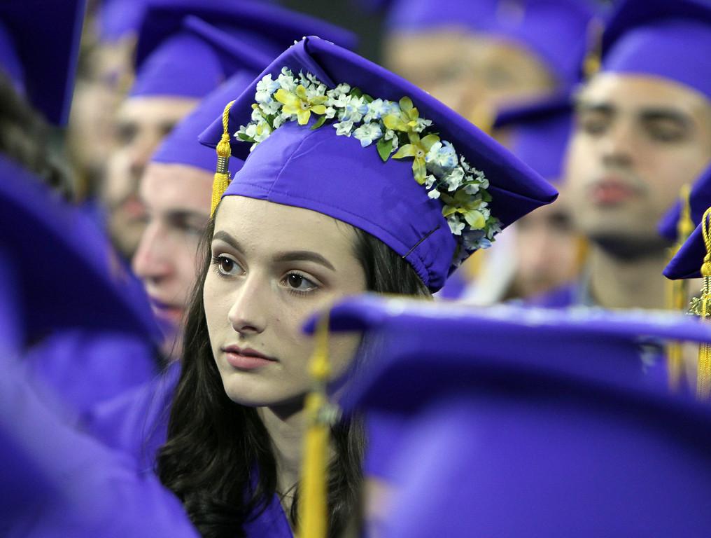 . Greater Lowell Tech graduation. Lauren Matte of Dracut. (SUN/Julia Malakie)
