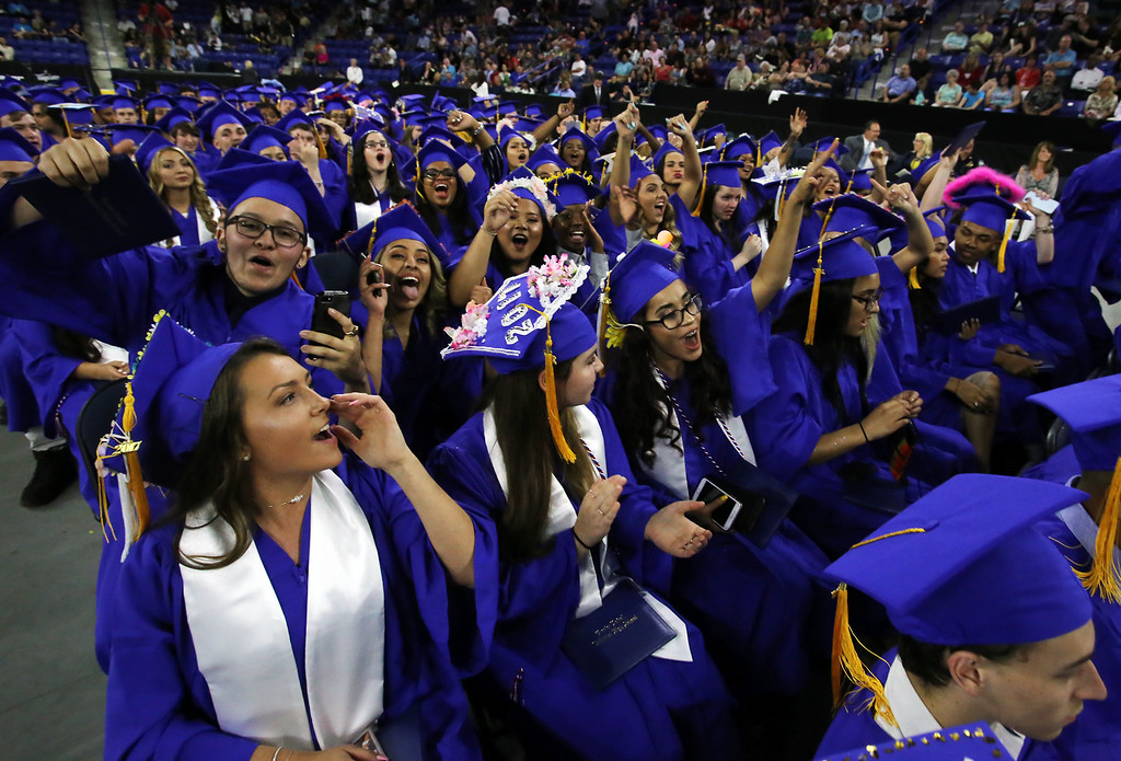 . Greater Lowell Tech graduation. (SUN/Julia Malakie)