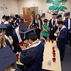 Record-Eagle/Keith King<br /> Haley Witkowski, bottom left, laughs as classmates mingle and sign mugs Friday, June 1, 2012 prior to the start of the commencement exercises at Grand Traverse Academy.