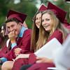 Members of Groton-Dunstable Regional High School's Class of 2016 react during a speech at graduation on June 3, 2016. Nashoba Valley Voice/Chris Lisinski