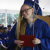 Innovation Academy Charter School graduation. Brooke Kennedy of Billerica with diploma. (SUN/Julia Malakie)