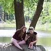 Innovation Academy Charter School graduation. Brittany Balakin, 18, left, and McKenzie Landry, 19, both of Dracut, sit under a tree at IACS graduation. Their friend Ember True of Dracut was graduating. (SUN/Julia Malakie)