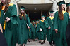 Lansdale Catholic high school graduates walk toward the stairs at  the Shrine of Czestochowa following commencement ceremony.  Tuesday, June 3, 2014.  Photo by Geoff Patton