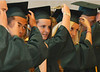 New Lansdale Catholic high school graduates move their tassels during commencement ceremony.  Tuesday,  June 3, 2014.  Photo by Geoff Patton