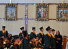 Seniors stand as diplomas are conferred at the Lansdale Catholic high school commencement ceremony.   Tuesday, June 3, 2014.  Photo by Geoff Patton