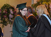 Bridget Anne Brumbaugh receives her diploma at the Lansdale Catholic high school commencement ceremony.   Tuesday, June 3, 2014.  Photo by Geoff Patton