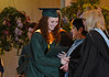 Molly Ann Caruso receives her diploma at the Lansdale Catholic high school commencement ceremony.   Tuesday, June 3, 2014.  Photo by Geoff Patton