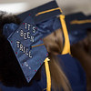 A clever mortarboard expressing how much fun Lawrence Academy was during the Class of 2016's graduation ceremony on June 3 in Groton. Nashoba Valley Voice/Chris Lisinski