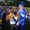 Littleton High School graduation, at the high school. Noah Gordon is called up for one academic award but stayed to receive three, in History, English Language Arts, and Latin.(SUN/Julia Malakie)