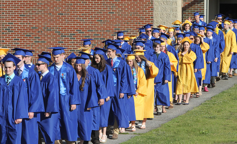 Littleton High School graduation, at the high school. (SUN/Julia Malakie)