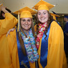 Littleton High School graduation, at the high school. Jill Gruskowski, left, and Brooke Gibbons. (SUN/Julia Malakie)