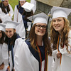 Lowell Catholic graduation. From left, Sam Coppinger of Dracut, Emily Cormier of Lowell, Emily Doherty of Billerica and Erin Gallagher of Tyngsboro. (SUN/Julia Malakie)