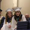 Lowell Catholic 27th Commencement Exercises. From left, Matthew Panneton, Baylee Duarte of Pelham, N.H., salutatorian Sam Curley of Dracut, and valedictorian Alec DiCiaccio of Tewksbury. (SUN/Julia Malakie)