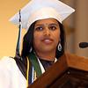Lowell Catholic graduation at Immaculate Conception. Valedictorian Susritha Kopparapu of Tyngsboro. (SUN/Julia Malakie)