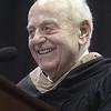 Lowell High School graduation speaker Arthur C. Anton, Class of 1943, who will soon turn 90. (SUN/Julia Malakie)