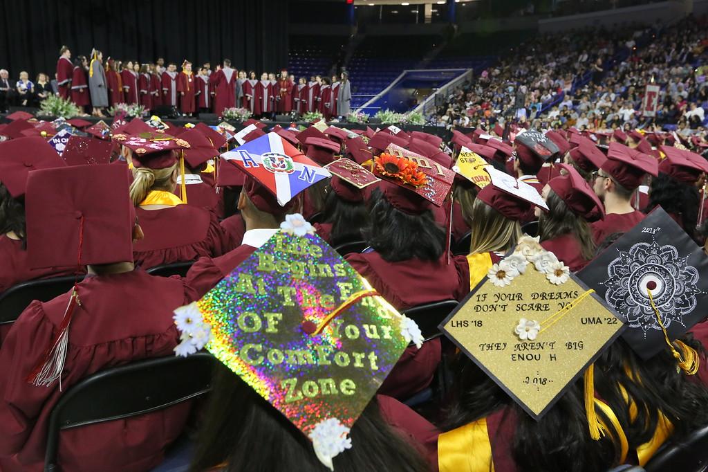 . Lowell High graduation. (SUN/Julia Malakie)