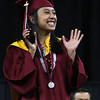 Lowell High graduation. Valedictorian and Carney Medalist Ana Mikaela Guillen. (SUN/Julia Malakie)