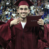 Lowell High graduation. Jose Vieira with diploma. (SUN/Julia Malakie)