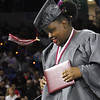 Lowell High graduation. Urdilinya Smith with diploma. (SUN/Julia Malakie)