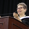 Lowell High graduation. Commencement speaker, novelist Elinor Lipman, Lowell High Class of 1968. (SUN/Julia Malakie)