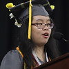 Lowell High graduation. Salutatorian Ashley Diep. (SUN/Julia Malakie)