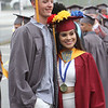 Lowell High graduation. John Donovan and Nicole Chanquet. (SUN/Julia Malakie)