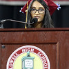 Lowell High graduation. Valedictorian Nisha Patel. (SUN/Julia Malakie)