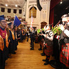 Stuart Highland Pipe Band at Middlesex Community College commencement. (SUN/Julia Malakie)