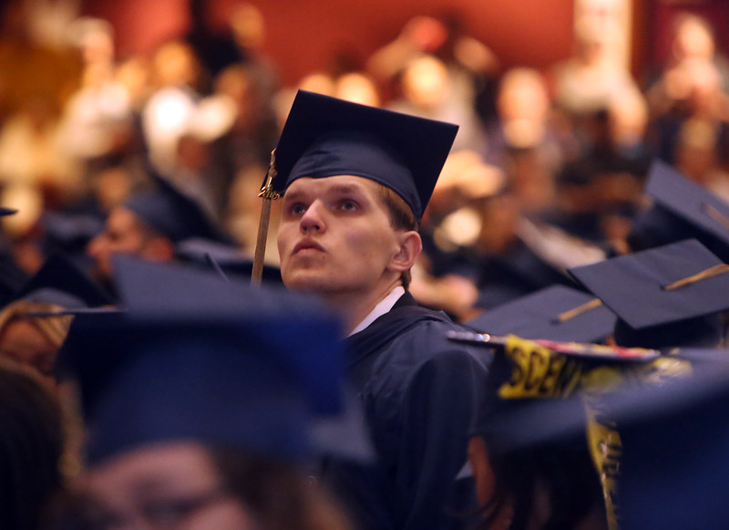 Daniel Janicki of North Chelmsford at Middlesex Community College commencement. (SUN/Julia Malakie)