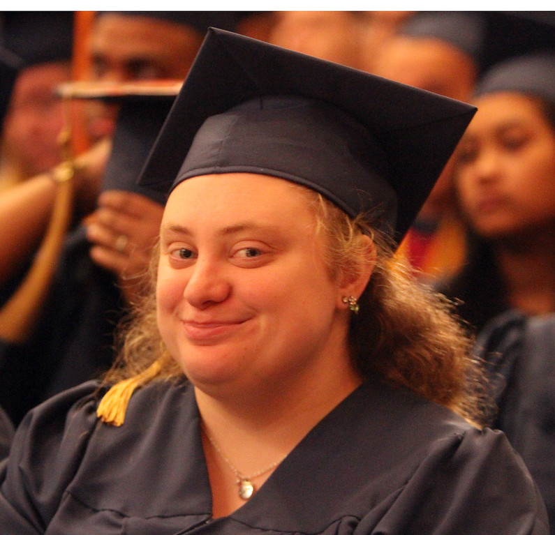 . Middlesex Community College commencement. Sara Robinson of Billerica. (SUN/Julia Malakie)